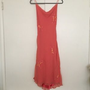 Laundry by Shelli Segal coral dress